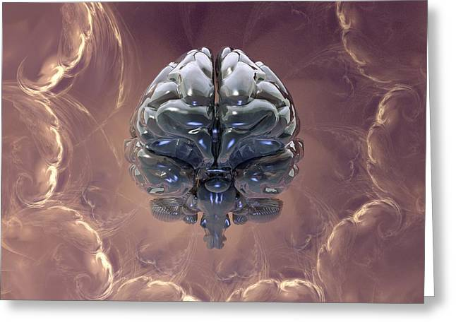 Creation Of The Human Brain, Artwork Greeting Card by Laguna Design
