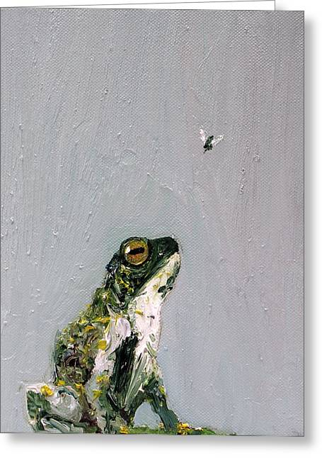 Recently Sold -  - Flying Frog Greeting Cards - Creation Rocks And Tremble Top And Base Greeting Card by Fabrizio Cassetta