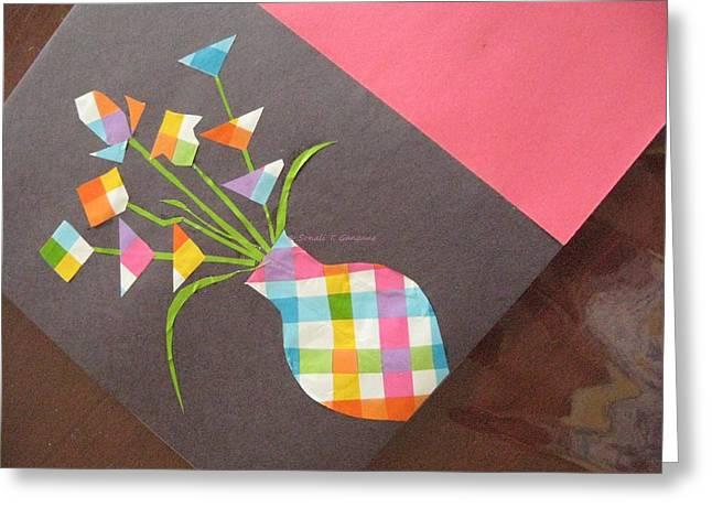 Creative Mind unfolds  Greeting Card by Sonali Gangane