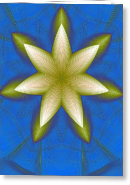 Star Points Greeting Cards - Creative Natural Flora Greeting Card by Linda Phelps