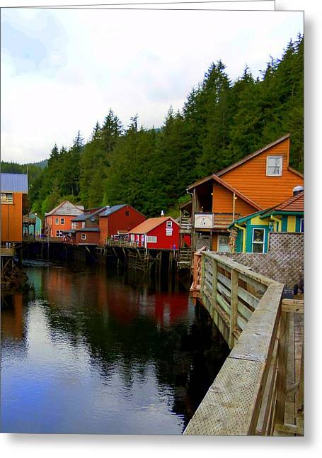 Ketchikan Greeting Cards - Creek Street 2 Greeting Card by Randall Weidner