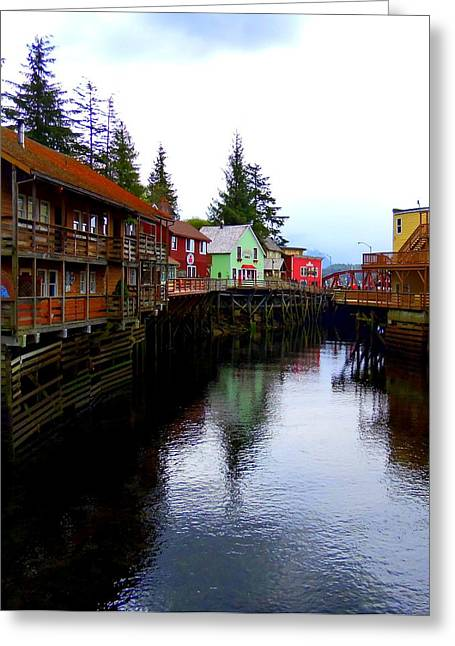 Ketchikan Greeting Cards - Creek Street 4 Greeting Card by Randall Weidner