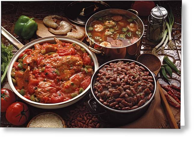 Creole Greeting Cards - Creole Cooking Greeting Card by Thomas Firak