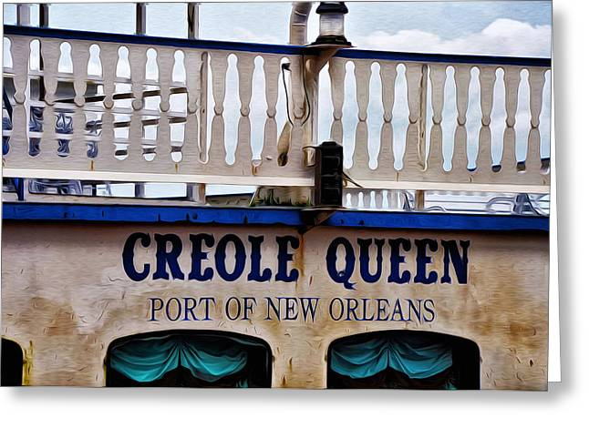 Steamboat Greeting Cards - Creole Queen Greeting Card by Bill Cannon