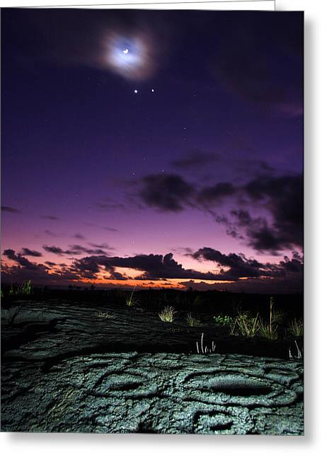 Loa Greeting Cards - Crescent Moon And Corona, Venus Greeting Card by Steve And Donna O