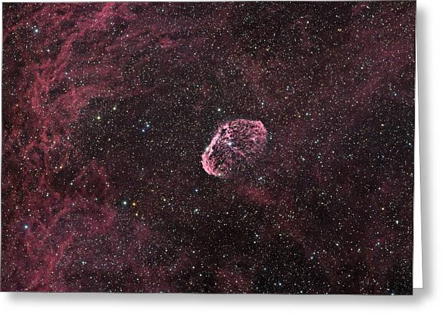 Emission Nebula Greeting Cards - Crescent Nebula Greeting Card by Phillip Jones