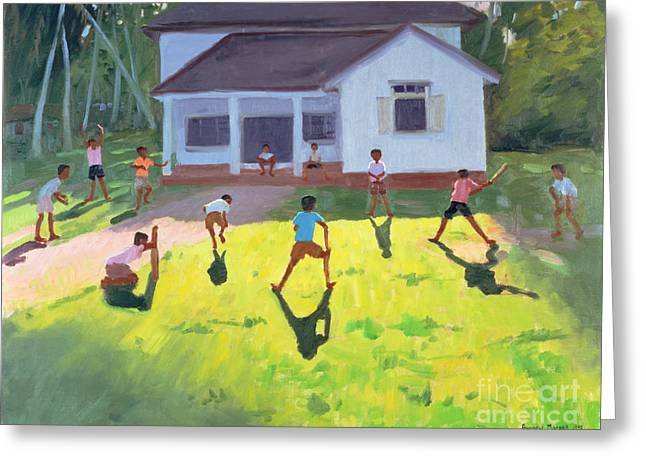 Cricket Greeting Card by Andrew Macara