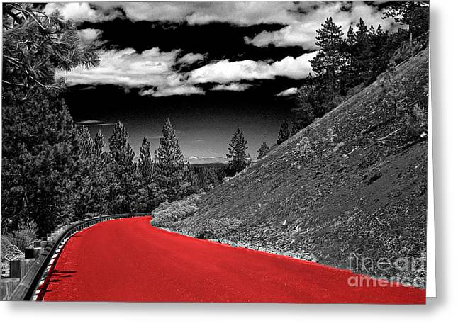 Photos With Red Digital Greeting Cards - Crimpson Road Greeting Card by Kami McKeon