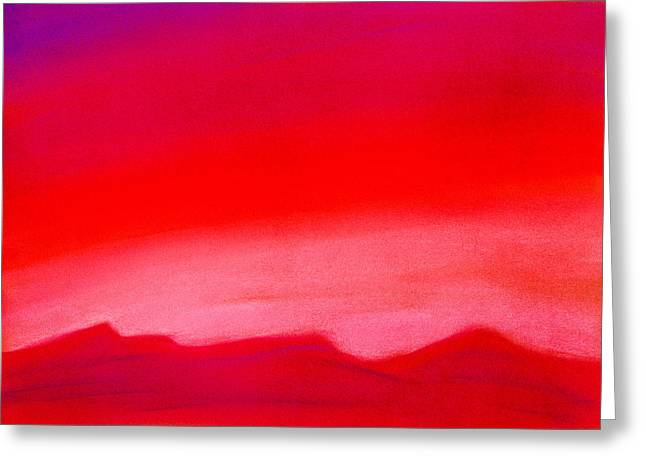 Lightscapes Greeting Cards - Crimson Night Greeting Card by Hakon Soreide