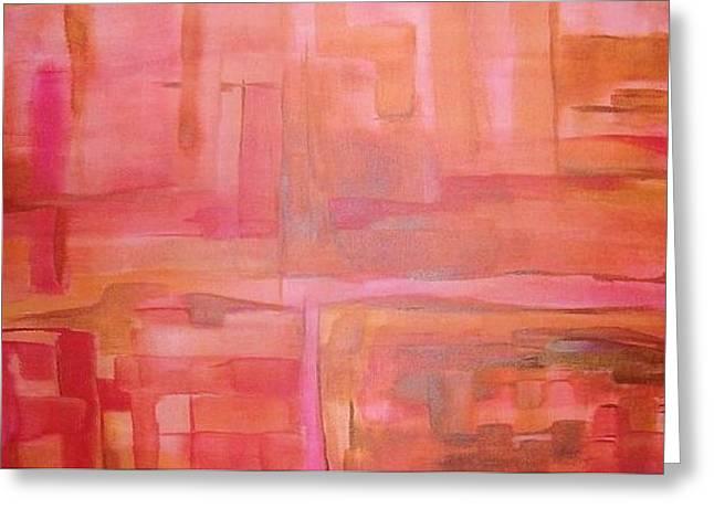 Crimson Sky Greeting Card by Derya  Aktas
