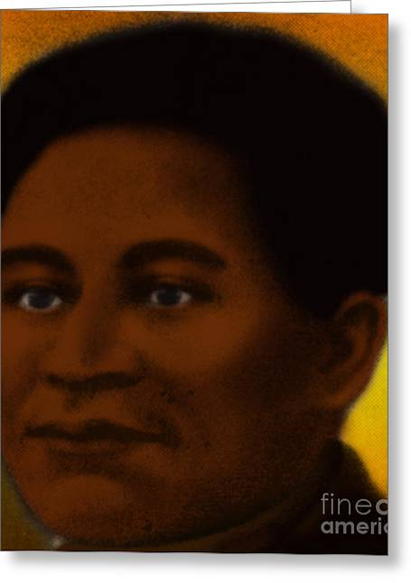 Negro Greeting Cards - Crispus Attucks, African-american War Greeting Card by Photo Researchers