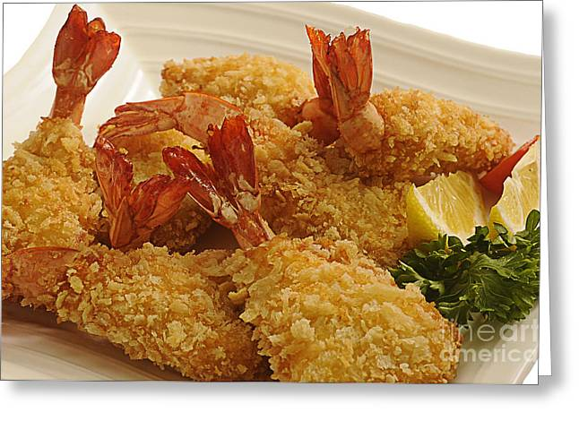 Crispy Greeting Cards - Crispy Fried Prawns Greeting Card by Charuhas Images