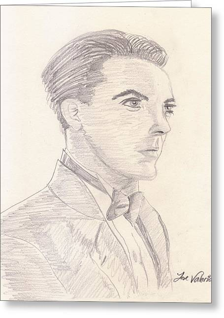 Graphite Poster Greeting Cards - Cristian Castro Greeting Card by Jose Valeriano