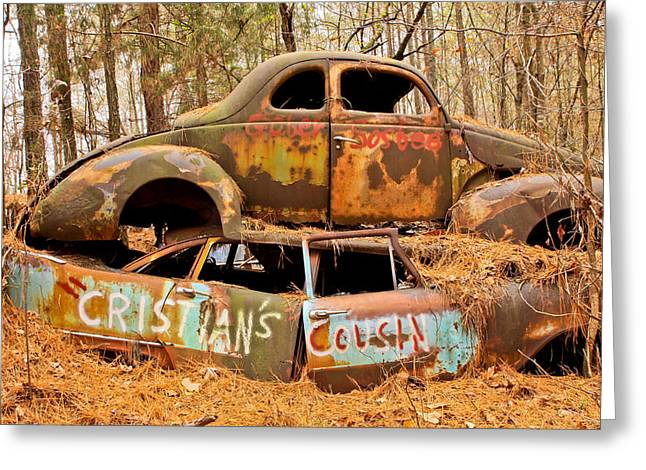 Junk Yard Greeting Cards - Cristians Cousin Greeting Card by Tom and Pat Cory