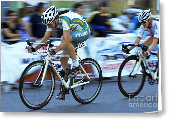 Canada Sports Greeting Cards - Criterium Bicycle Race 3 Greeting Card by Bob Christopher