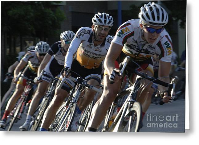 Canada Sports Greeting Cards - Criterium Bicycle Race 5 Greeting Card by Bob Christopher