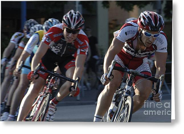 Canada Sports Greeting Cards - Criterium Bicycle Race 7 Greeting Card by Bob Christopher