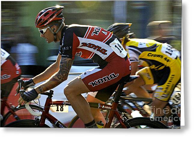 Canada Sports Greeting Cards - Criterium Bicycle Race1 Greeting Card by Bob Christopher