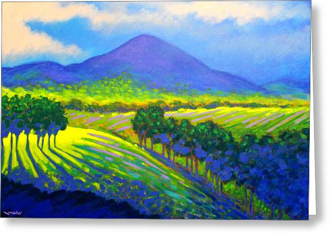 Violet Prints Greeting Cards - Croagh Patrick County Mayo Greeting Card by John  Nolan