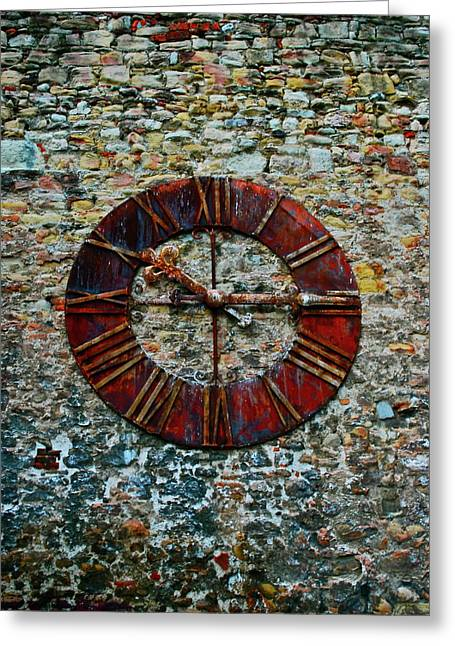 Pm Greeting Cards - Croatian  Clock Greeting Card by Dorota Nowak