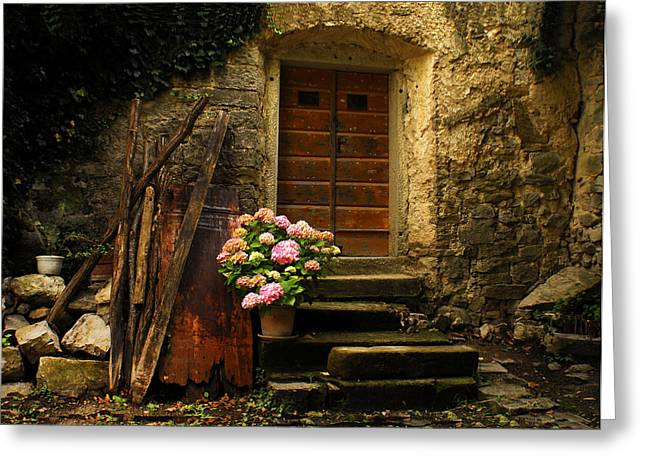 Stone House Greeting Cards - Croatian Stone House Greeting Card by Don Wolf