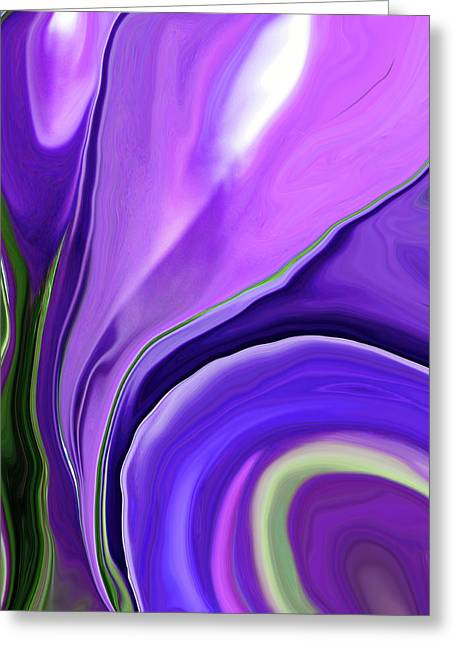 Morphed Digital Art Greeting Cards - Crocus Abstract15 Greeting Card by Linnea Tober