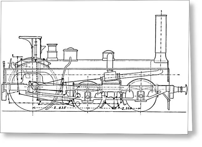 Technical Photographs Greeting Cards - Cromptons Steam Locomotive Greeting Card by Mark Sykes