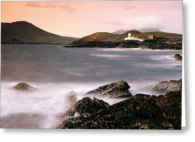 Cummins Greeting Cards - Cromwell Point Lighthouse, Valentia Greeting Card by Richard Cummins