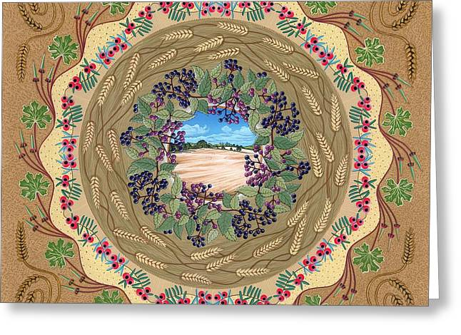 Harvestime Greeting Cards - Crop Circle Greeting Card by Isobel  Brook Haslam