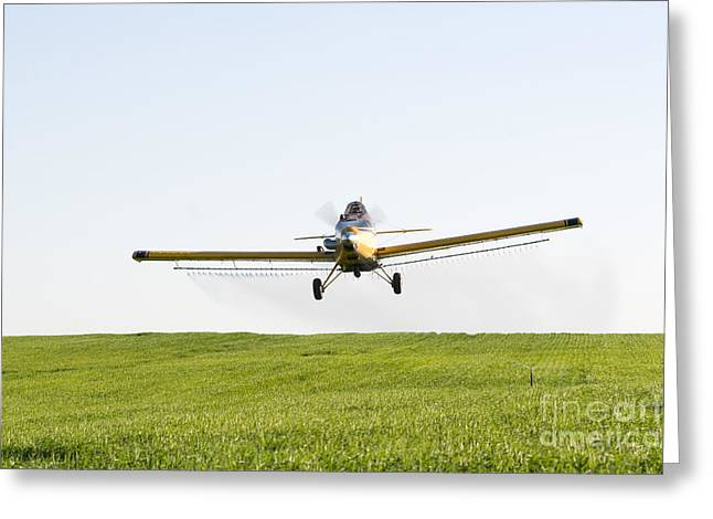 Crop Dusters Greeting Cards - Crop Duster Greeting Card by Cindy Singleton