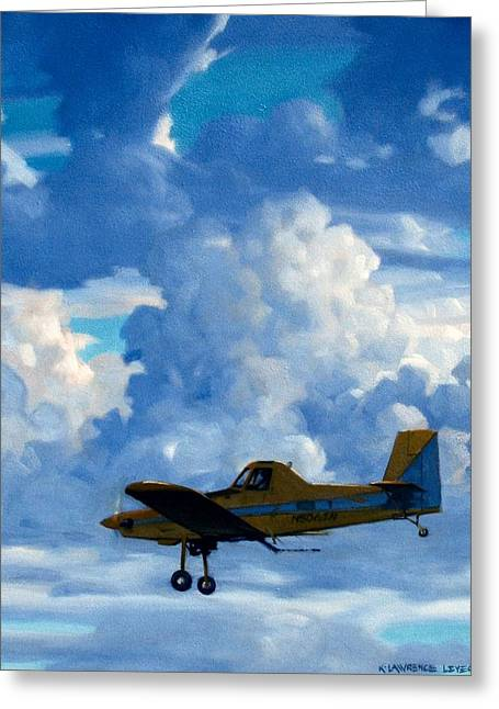 Duster Greeting Cards - Crop Duster Greeting Card by Kevin Lawrence Leveque