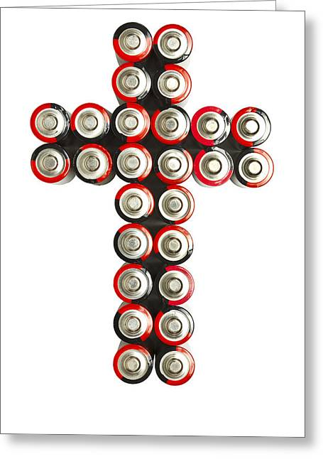 Cross Batteries 2 Greeting Card by John Brueske