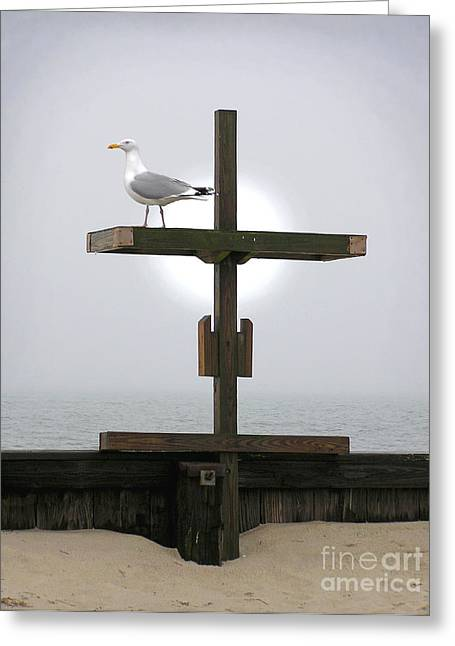 Religion Greeting Cards - Cross Greeting Card by Charles Harden