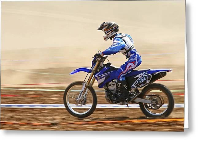 Cross Country Motorbike Racing Greeting Card by Photostock-israel