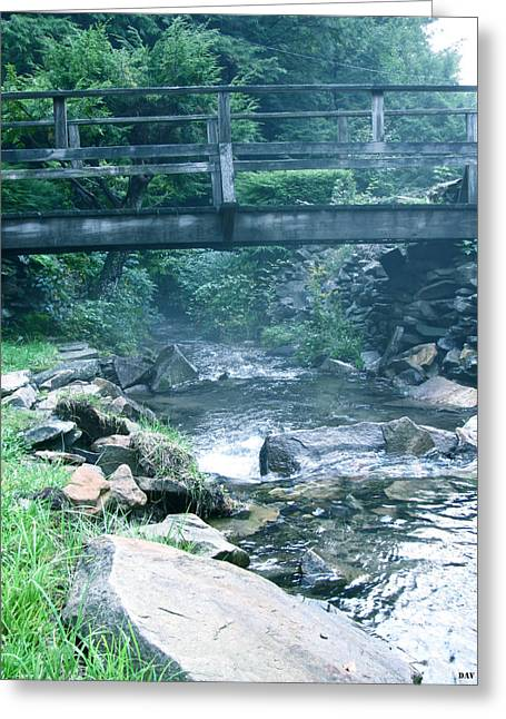 Cross The Stream Greeting Card by Debra     Vatalaro