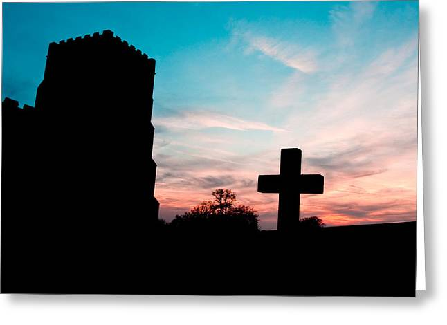 Radiance Greeting Cards - Cross  Greeting Card by Tom Gowanlock