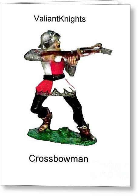 Collectors Toys Photographs Greeting Cards - Crossbowman Greeting Card by Valiant Knight