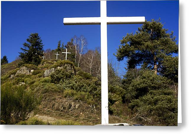 Wayside Cross Greeting Cards - Crosses Greeting Card by Bernard Jaubert