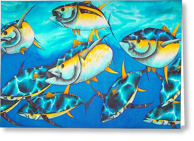 Fish Print Greeting Cards - Crossin the Atlantic Greeting Card by Daniel Jean-Baptiste
