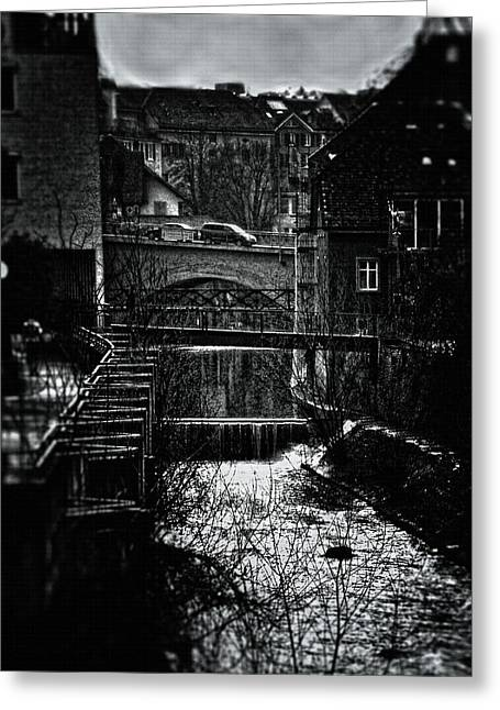 Courage Greeting Cards - Crossing Bridges Greeting Card by Mimulux patricia no