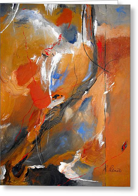 Salmon Paintings Greeting Cards - Crossing Over Greeting Card by Ruth Palmer