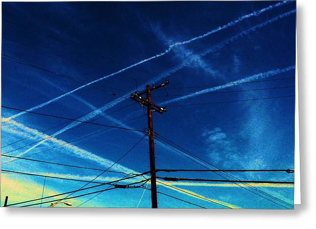 Chem Greeting Cards - Crossing Points Greeting Card by Daniele Smith