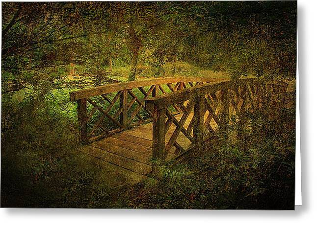 Jessica Photographs Greeting Cards - Crossing the Bridge Greeting Card by Jessica Brawley