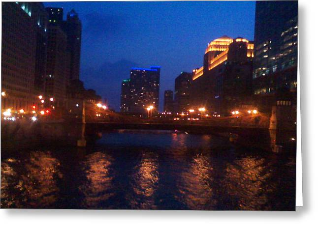 Crossing The Chicago Greeting Card by Jimi Bush