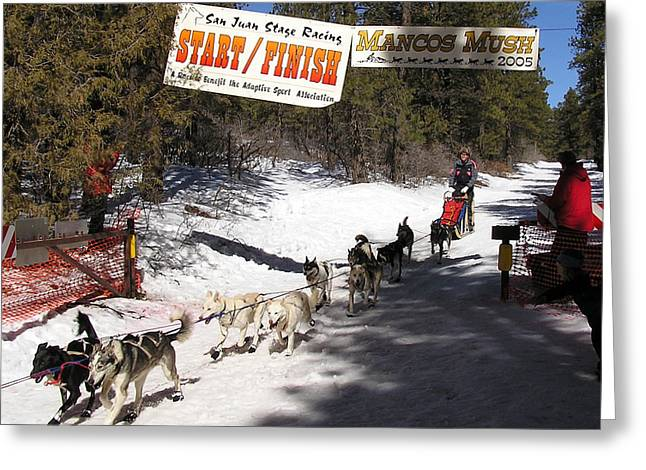Mancos Greeting Cards - Crossing the Finish Line Greeting Card by FeVa  Fotos
