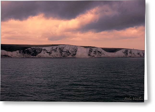 Cliffs Over Ocean Greeting Cards - Crossings Greeting Card by Debra     Vatalaro