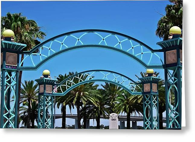 Crosswalk of Valor Greeting Card by DigiArt Diaries by Vicky B Fuller