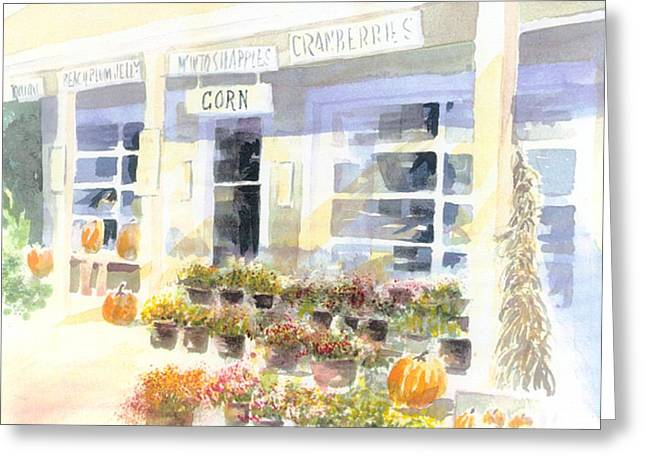Farm Stand Paintings Greeting Cards - Crow Farm Greeting Card by Joseph Gallant