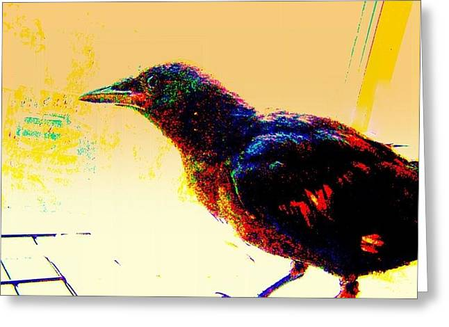 Yomamabird Rhonda Greeting Cards - Crow Walk Greeting Card by YoMamaBird Rhonda