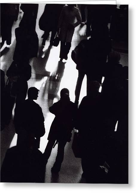 Many People Greeting Cards - Crowd Greeting Card by Cordelia Molloy